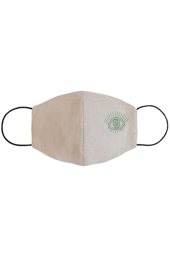 Embroidered Eye Mask - Green