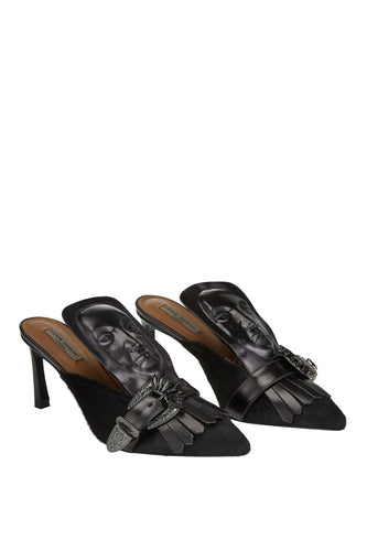 Marcel Evening Mules - Black