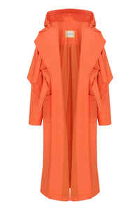 Fisherman Waterproof Trench Coat - Orange