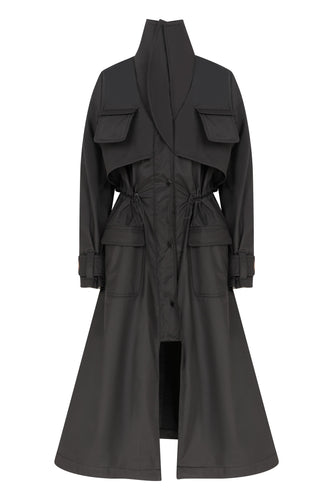 Safari Trench Coat - Black