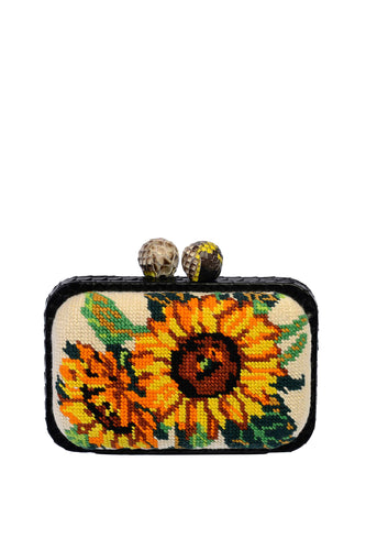 Sunflower Box Clutch