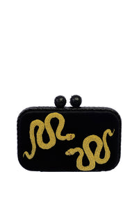 Serpent Box Clutch - Black