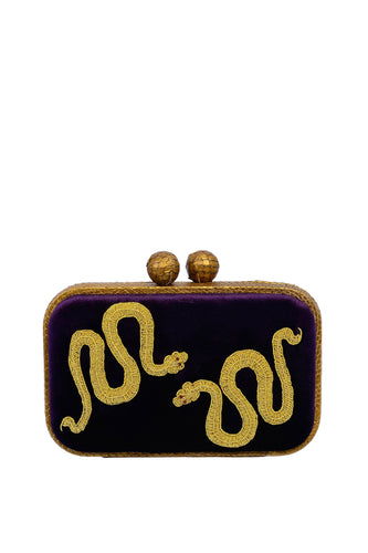 Serpent Box Clutch - Gold