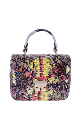 Python Top Handle Envelope Bag - Graffiti