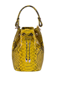 Python Drawstring Bag - Yellow