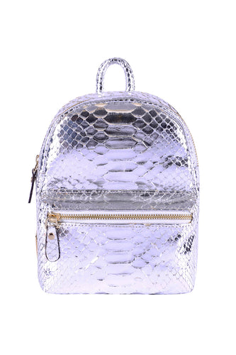 Metallic Python Mini Backpack