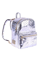 Load image into Gallery viewer, Metallic Python Mini Backpack