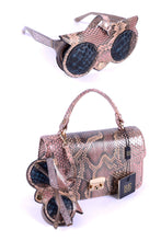 Load image into Gallery viewer, Python Sunglasses Bag Charm - Beige
