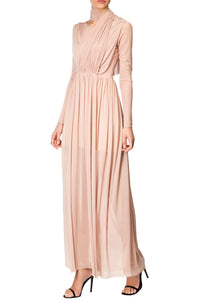Draped Sheer Gown