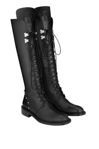 Enyo Smooth Leather Boots - Black