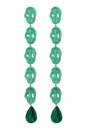 Malachite Serpent Earrings
