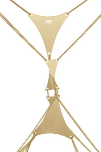 Double Triangle Body Chain - Gold
