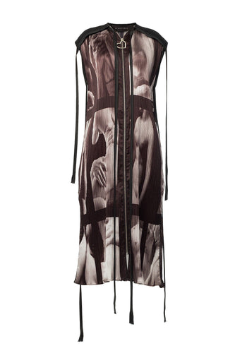 Zip Front Sculpture Dress