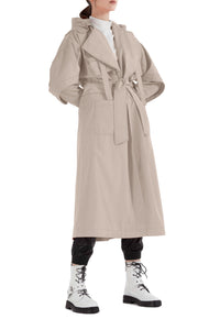 Fisherman Waterproof Trench Coat - Beige
