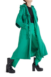 Fisherman Waterproof Trench Coat - Green