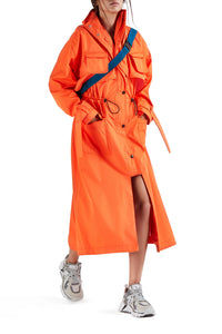 Safari Trench Coat - Orange