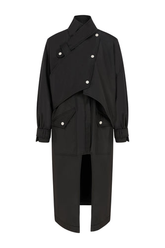 Gadget Waterproof Trench Coat - Black