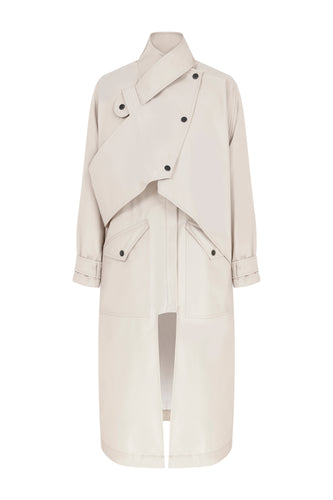Gadget Waterproof Trench Coat - Beige