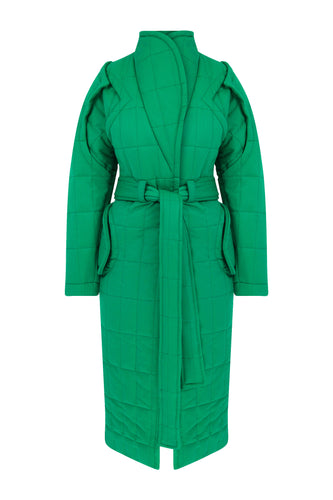 Curvy Me Long Puffer - Green
