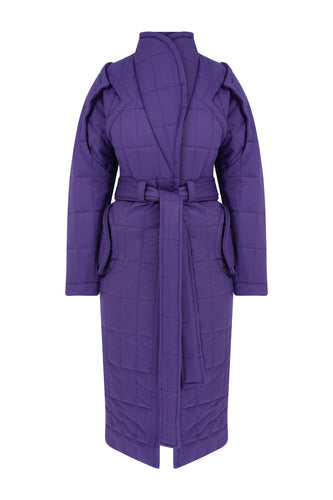 Curvy Me Long Puffer - Purple