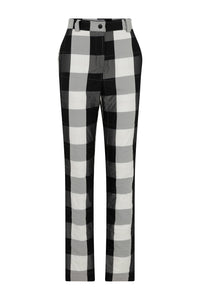 Light Quilted Pants - Black/White