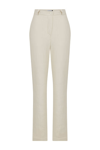 Light Quilted Pants - Off-White