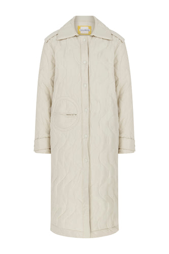 Drama Queen Quilted Puffer - Off-White