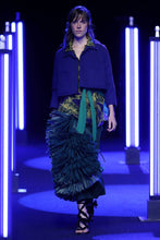 Load image into Gallery viewer, Raffia Tiered Slim Skirt