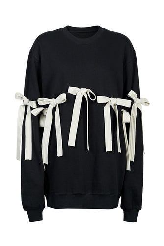 Bow Cotton Sweatshirt