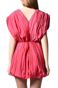 Pleated Bubble Dress