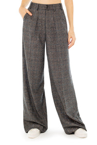 Lauren Wide Leg Silk Wool Trousers