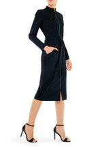 Load image into Gallery viewer, Andrea Zip Front Wool Dress