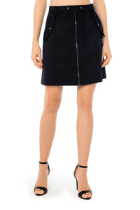 Kourtney Wool Mini Skirt - Navy