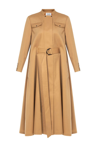 Irene Wool Cape Dress