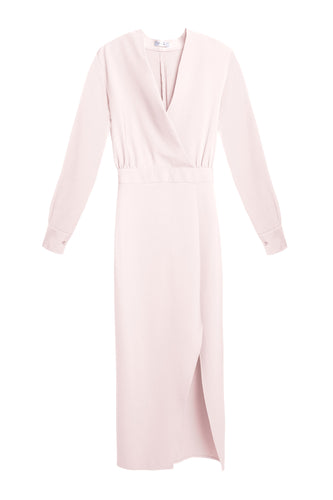 Wrap Maxi Dress - Pearl Pink
