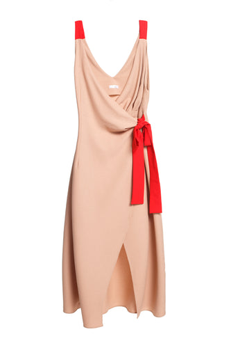 Bow Wrap Sleeveless Dress