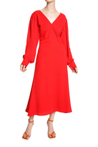 Fit and Flare Dress - Red