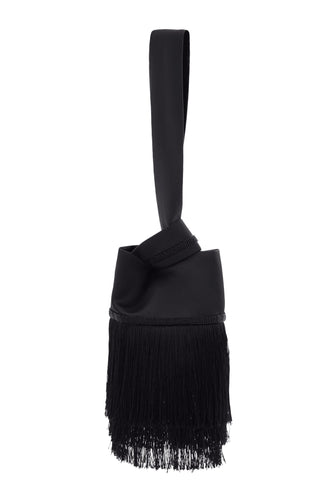 Ravel Beaded Fringe Bag - Black