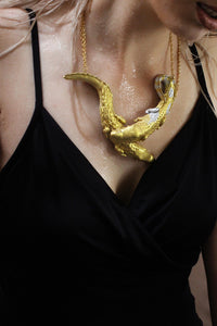 Clasped Crocodile Necklace