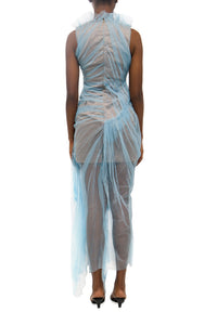 Sheer Pleated Dress