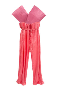 Pleated Sash Top Jumpsuit