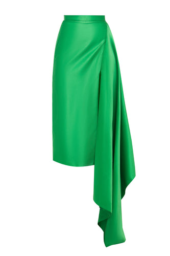 Slit Drape Skirt