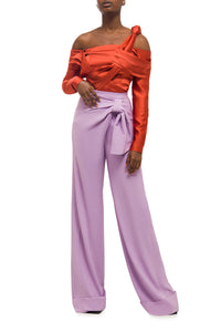 Drape Front Trousers