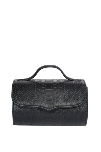 Cylinder Shoulder Bag - Black Snake