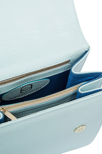 Diamond Accent Shoulder Bag - Blue