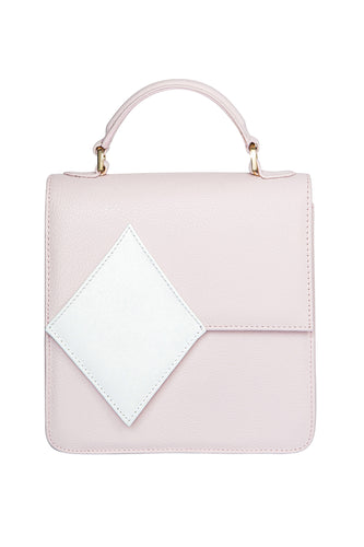 Diamond Accent Shoulder Bag - Pink