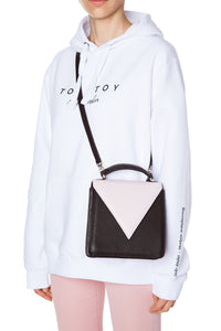 Triangle Flap Shoulder Bag - Black/Pink