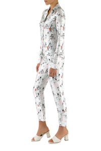 Women Print Silk Pajama Pants