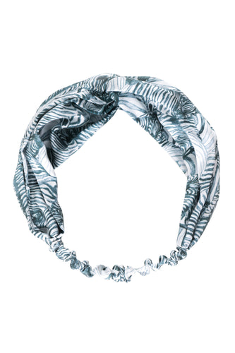 White Zebra Silk Hair Band