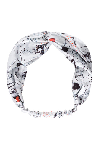 Women Print Silk Hair Band
